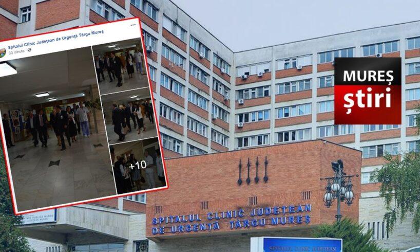 incredibil spitalul judetean de urgenta tirgu mures se lauda pe facebook cu o vizita electorala foto