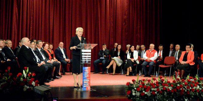premierul viorica dancila popas electoral la reghin