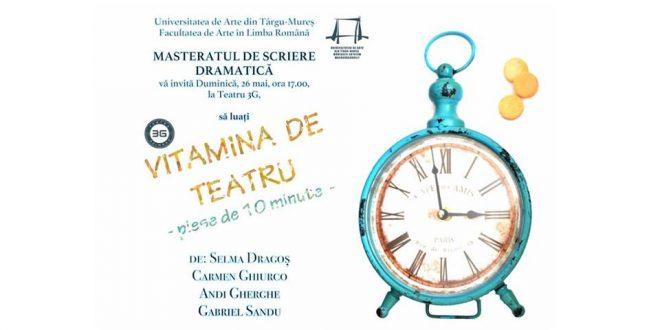 4 piese de 10 minute prezentare scenica la teatru 3g