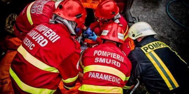 un nou accident rutier pe strazile muresene un autoturism a luat foc
