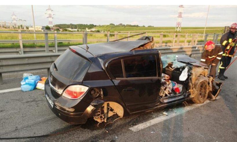 foto accident grav cu 3 victime pe autostrada a3