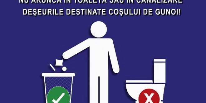 """apel-lansat-de-compania-aquaserv:-""""canalizarea-nu-este-cos-de-gunoi!"""""""