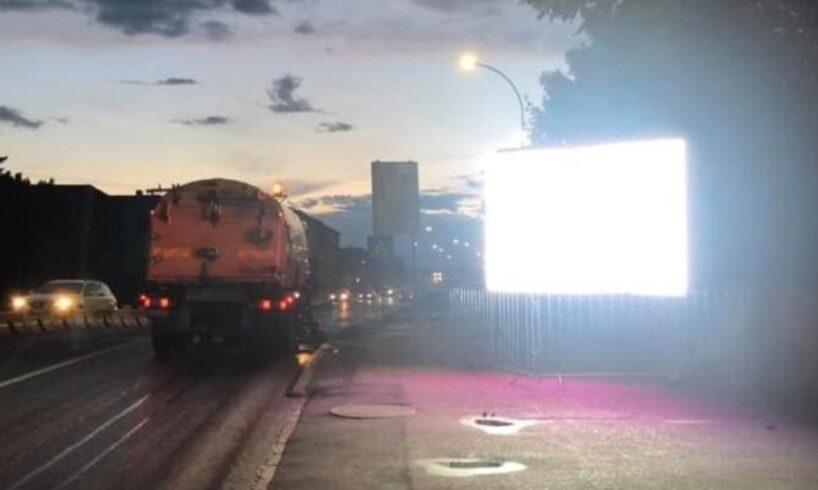 atentie un nou pericol pentru soferi si pietoni in zona podului mures pe timpul noptii