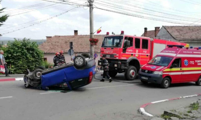 acum s a rasturnat cu masina in mijlocul municipiului foto