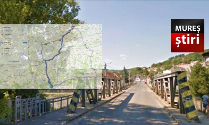 atentie soferi varianta de ocolire dupa inchiderea podului peste raul tarnava mica pe dn 14a