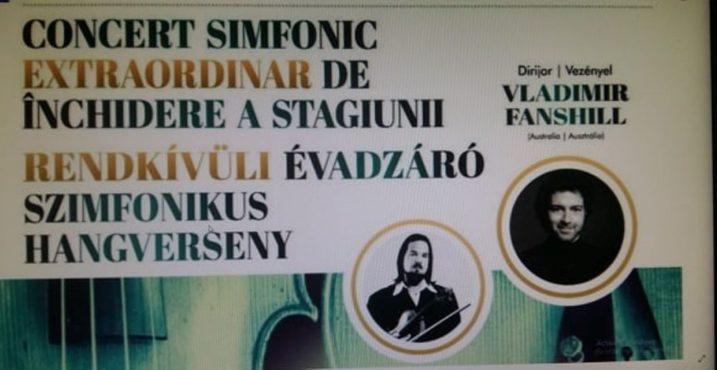 concert simfonic extraordinar de inchidere a stagiunii la filarmonica