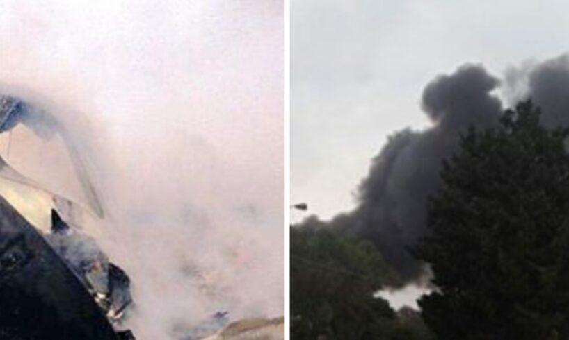 acum un avion cu doua persoane la bord s a prabusit si a luat foc