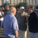protest al actorilor si ai altor angajati ai teatrelor in piata victoriei din bucuresti
