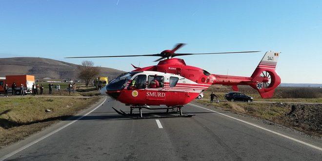 accident in silivasu de campie victima transportata cu elicopterul smurd la targu mures