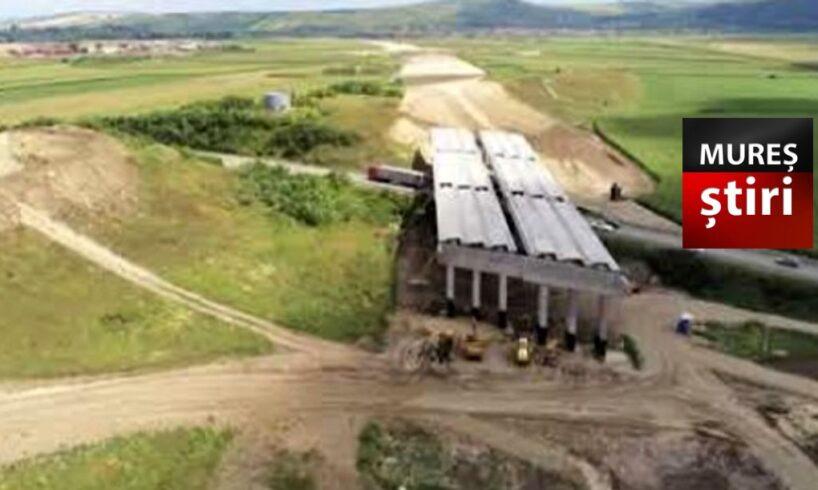 video filmare din drona cu santierele autostrazii a3 din judetul mures