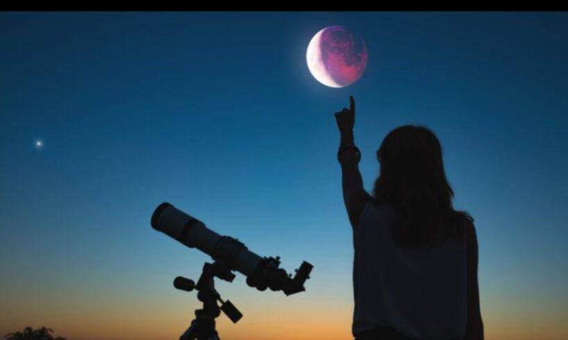 azi eclipsa partiala de luna care poate fi vazuta din romania