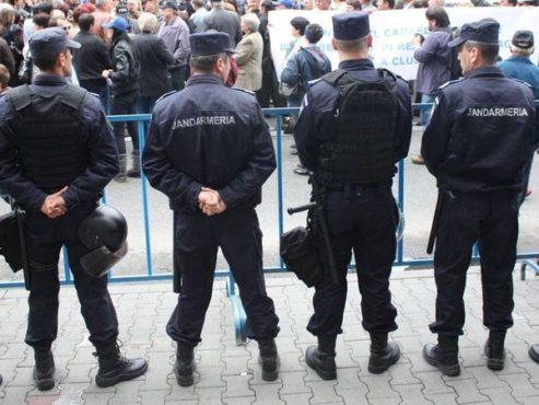 jandarmii asigura ordinea publica la meciul de fotbal afc hermannstadt gaz metan medias
