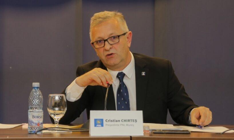 senatorul cristian chirtes pnl candideaza la functia de presedinte al consiliului judetean mures