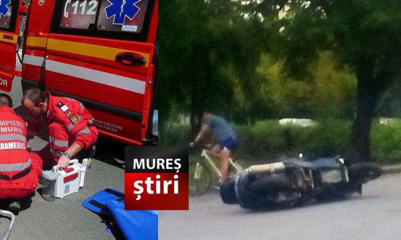foto un tanar motociclist se lupta pentru viata in urma accidentului din aleea carpati