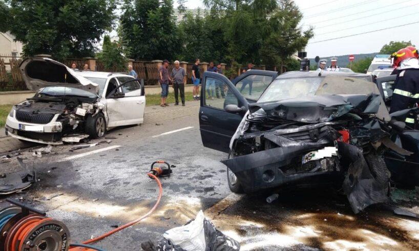 grav accident rutier pe calea sighisoarei din tg mures