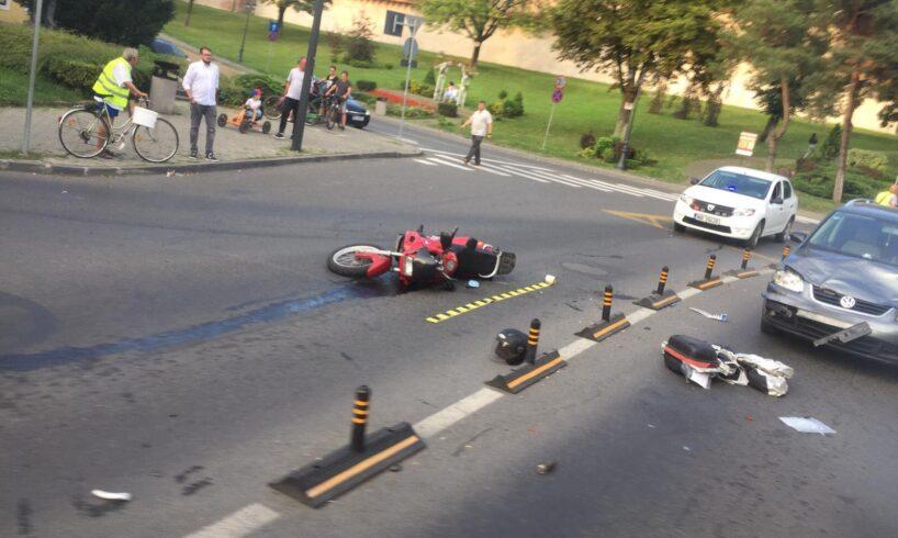 motociclist accidentat in tirgu mures