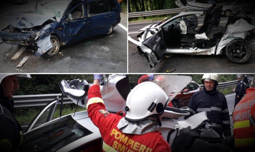 foto.-interventia-pompierilor-la-3-accidente-cu-10-masini-implicate-si-12-victime!