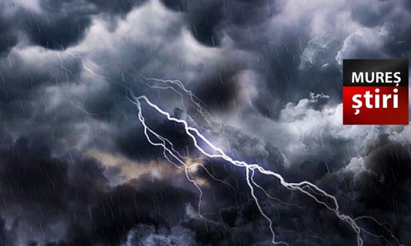 alerta de fenomene meteo periculoase imediate in mures cod galben