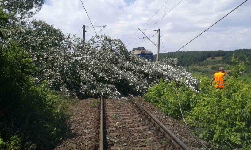 acum traficul feroviar pe magistrala de cale ferata 400 este intrerupt la kilometrul feroviar 8