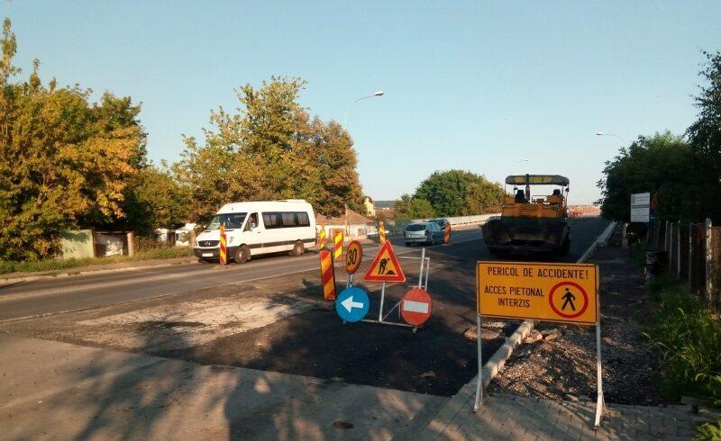 prima parte a lucrarilor la podul de peste mures se va finaliza la inceput de septembrie