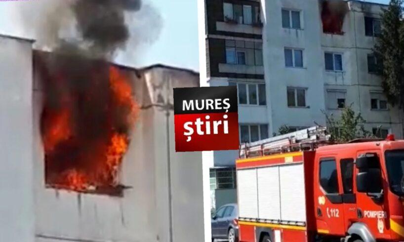video o victima arsa pe fata a ajuns la spital in urma incendiului violent din tudor