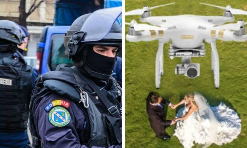 jandarmii au intervenit la o nunta la care se filma cu drona