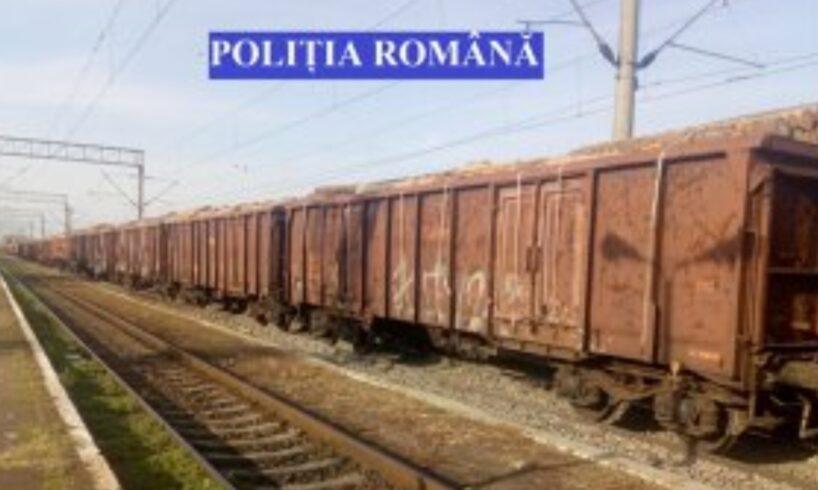 atentie!-un-tren-cu-40-de-vagoane-pline-cu-1.600-de-metri-cubi-de-lemn,-oprit-de-politisti!