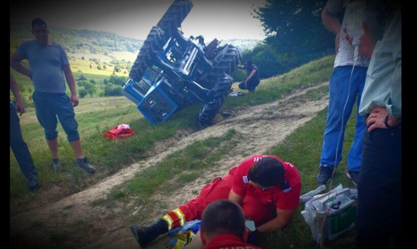 foto baietel in stare grava dupa ce a cazut dintr un tractor