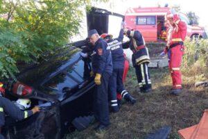 foto accident cu 5 raniti in comuna acatari