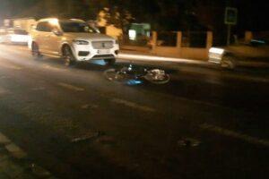 accident la ludus un biciclist ranit de un bolid