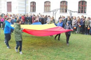 foto ziua nationala a romaniei sarbatorita la colegiul national unirea