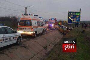 azi doi mureseni au murit in urma unui impact pe dn15 unul a zburat prin parbriz