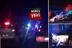 imagini video de la accidentul dintre o masina de politie si un bmw la suseni