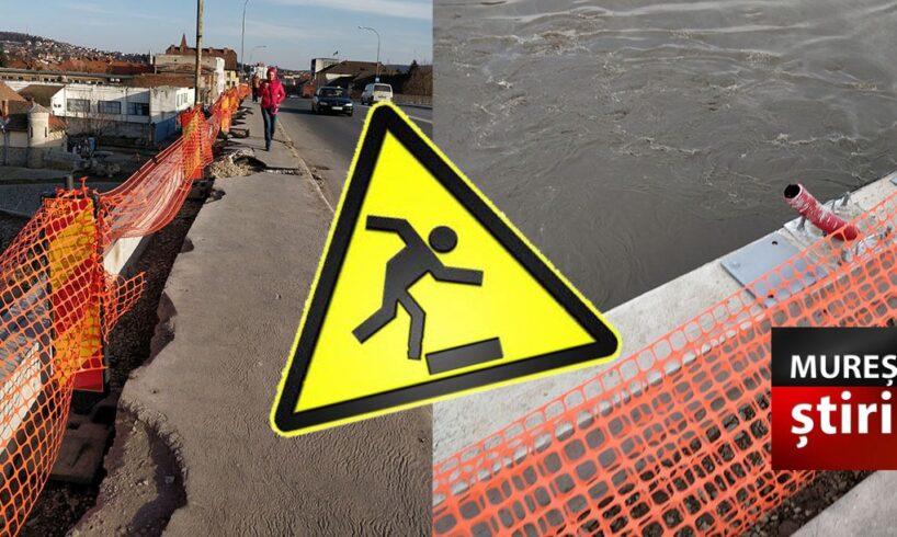 atentie lucrari neconforme care pun in pericol siguranta celor care traverseaza podul mures specialistii avertizeaza foto