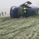 doi morti si 18 raniti in urma rasturnarii microbuzului cu calatori pe dn 38 in judetul constanta