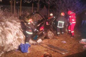 foto accident cu cinci victime in localitatea voiniceni