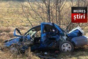 azi 3 victime dupa ce o masina a intrat in copac si s a rasturnat pe dn15 ludus