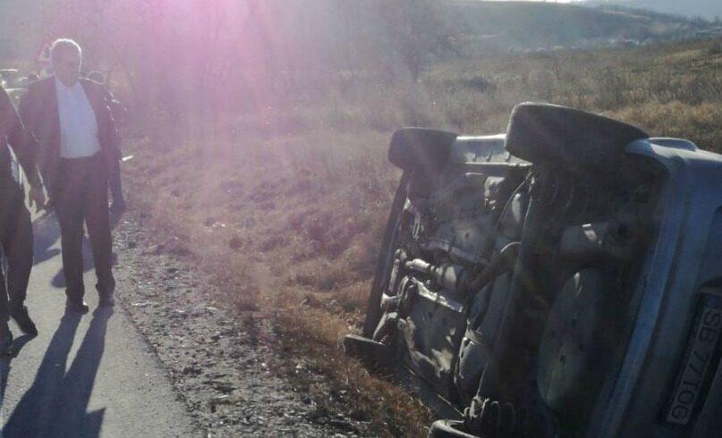 accident cu 2 raniti in apropiere de medias