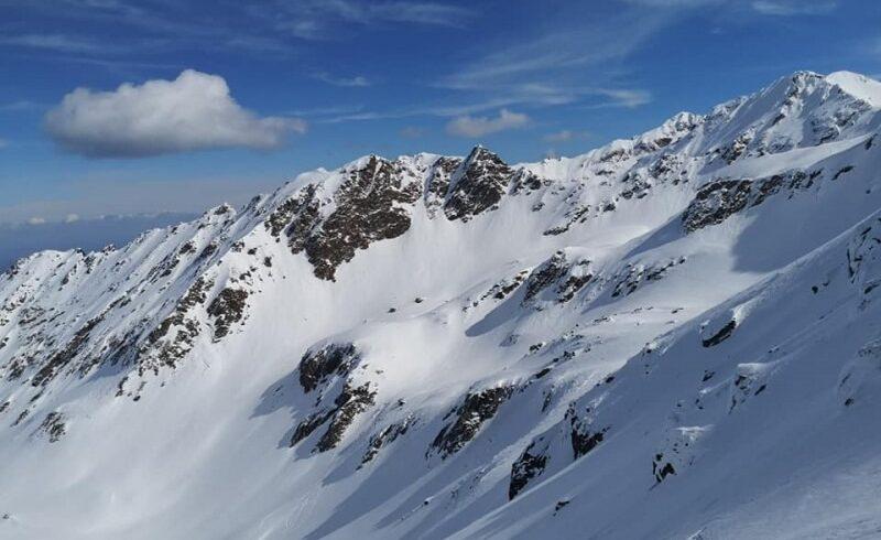 risc insemnat de avalansa in muntii calimani