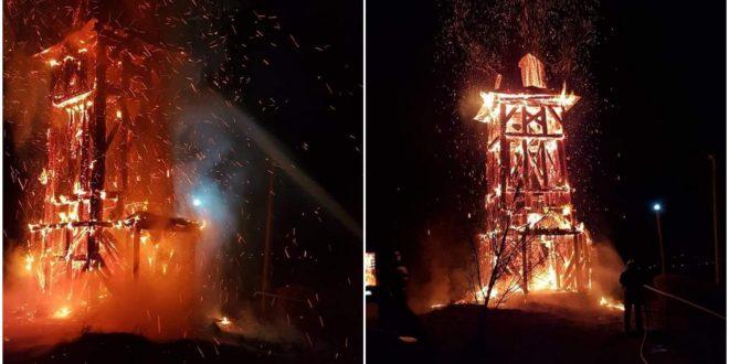 clopotnita din idrifaia incendiata reactia politiei mures