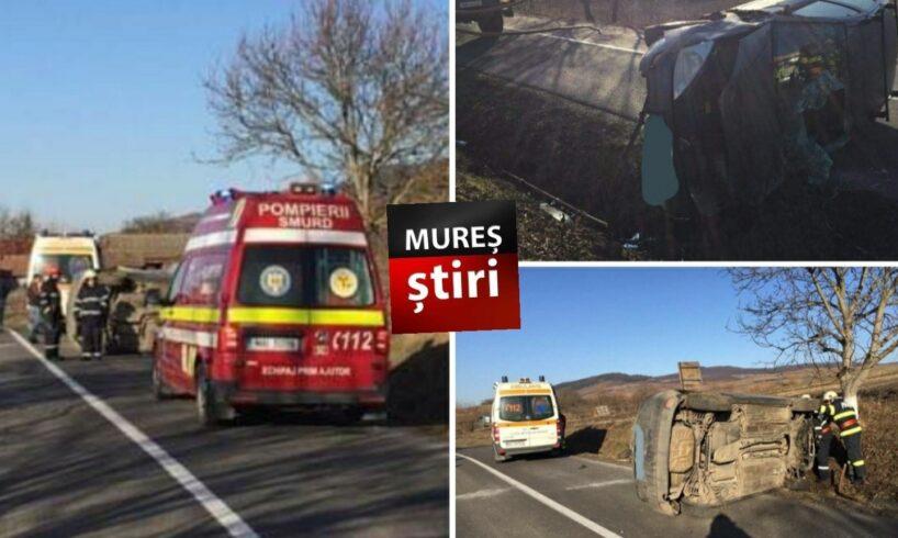 azi trei victime dupa ce o masina s a rasturnat pe dj154
