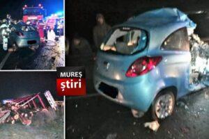 foto un muresean a murit dupa ce a intrat cu masina intr un tir