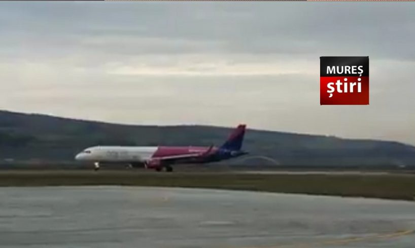 imagini video cu primul airbus a321 la aeroportul transilvania tirgu mures