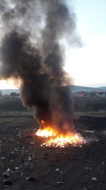 incendiu pe strada barajului