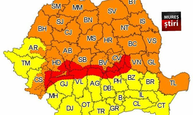 ultima ora a fost emis cod portocaliu in mures vant in rafale de peste 110 km h zona montana