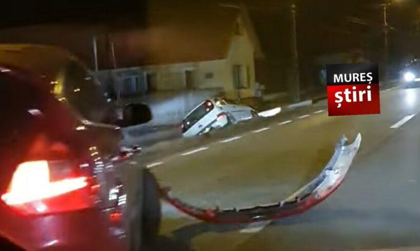 acum accident cu masina ajunsa in sant pe dn15 sangeorgiu de mures foto