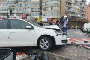 foto accident in intersectia fortuna