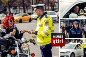 foto politistii mureseni au tras soferitele pe dreapta