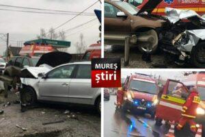 azi victima in stare grava dupa impactul frontal dintre doua masini pe dn13 foto