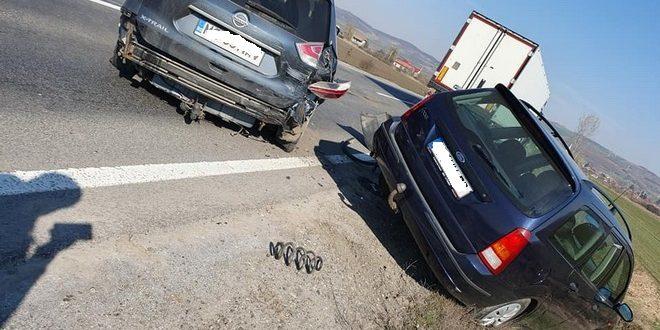 foto accident cu cinci masini pe e60 in judetul mures